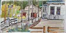 Old Poway Park, Nelson House and Rose Room - Original Artwork, Signed