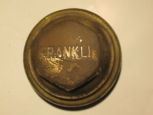 FRANKLIN SCREW ON VINTAGE EARLY HUBCAP HUB CAP. TYPE 2