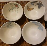 "LOT OF 4 LENOX ALICE DREW COLLAGE SET OF 4 DESSERT BOWLS 5 1/2"" EUC"