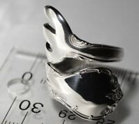 THE MOST UNUSUAL! Towle OLD MASTER Sterling Silver Spoon Ring FREE SHIPPING