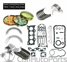 92-95 Honda Civic EX Del Sol Si V-Tec SOHC D16Z6 Gaskets Rings Main Rod Bearings