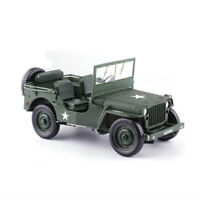 KDW1:18 Jeep Willys Scale Diecast Model  Military US Army Vehicle Toy Collection