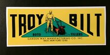 "Troy Bilt Horse Pony Roto tillers Garden Way old style decal 8"" x 3"""