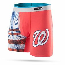 STANCE WASHINGTON NATIONALS Basilone Boxer Brief TIE DYE RED SMALL M302B16TNA