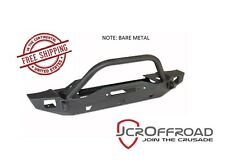 JCR Offroad Crusader Mid Width Front Bumper w/ Tube - Bare - for 76-86 Jeep CJ-7