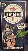 Coney Island Brewing Company Merman NY IPA Metal Tacker Beer Sign Craft Brewery!