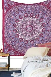 Indian Red Star Mandala Wall Hanging Decorative Tapestry Queen Bedding Hippie