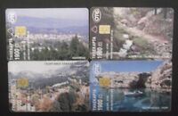 GREECE lot 4 different D-phonecards:D5-D8 from 2000 GRIECHENLAND GRECE GRECIA !!