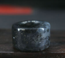 2.2CM China Antique Ring natural Old Jade Ring jewelry Jade Ring W2W3