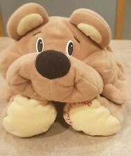 90s Fisher Price Rumple Bear Happy Tan Plush Toy 6811 Rumples