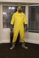 NOS unissued early 1960s Civil Defense yellow protective suit w helmet hood etc