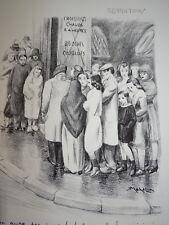 Robert MAHELIN (1889-1968) Litho ORIGINALE RATIONNEMENT GUERRE 39/45 WW2 1945