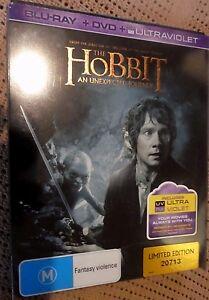 The Hobbit: Unexpected Journey Steelbook(Blu-Ray + DVD, No UV, Region B) k7