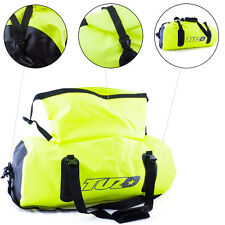 50L Motorcycle Luggage Duffel Holdall Waterproof Roll Shut Bag Flo Yellow
