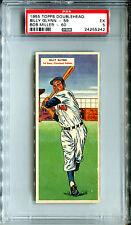 1955 Topps DoubleHeader #59 60 Billy Glynn Bob Miller PSA 5 INDIANS TIGERS