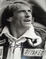 Jacques Laffite SIGNED Nigel Snowdon Original, Ligier Portrait, 1977 GP Season