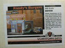 Downtown Deco HO #1038 Randy's Burgers (Plaster kit)