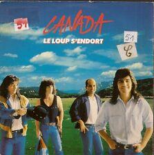 """45 TOURS / 7"""" SINGLE--CANADA--LE LOUP S'ENDORT / PAUVRE JOE--1987"""