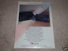 Nakamichi ST-7,CA-5 Pre, PA-7 Power Amp Ad, 1985, RARE!