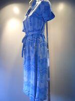 Vintage 60s 70s Brady Bunch Shirt Dress Summer Alice Disco Mod Psychedelic Retro