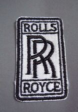 "ROLLS ROYCE Iron-On Embroidered British Automotive Car Patch 3"" Black"