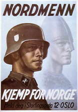 German WW2 Nordmenn Norge Waffen SS Officer large Poster