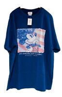 RARE Disney Store Exclusive Mickey Mouse American Classic Flag 4th July Blue XL