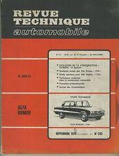 (14A)REVUE TECHNIQUE AUTOMOBILE  ALFA ROMEO 1750 / CITROEN D Spécial