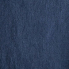 Pure solid Linen Fabric Damiel dark blue 0.54yd (0,5m)