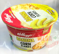 Kellogg Banana Flavour Corn Flakes Breakfast Cereal Cup Healthy Delicious 28g