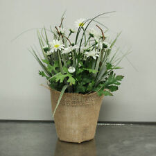 Daisy Fabric Potted Dried & Artificial Flowers