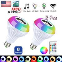 12W RGB Smart Bluetooth LED Bulb Light Speaker Music Play Lamp + Remote Control
