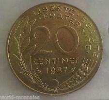 20 centimes marianne 1987 : SPL : pièce de monnaie française