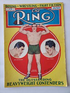 June 1933 The Ring Boxing Magazine Max Baer Max Schmeling Primo Carnera Cover