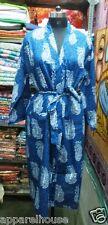 Indian Handmade Block Printed Women Cotton Sexy Kimono Intimates Bathrobe Nighty