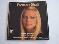 EP 45 T VINYLE 4 T , FRANCE GALL  , HOMME TOUT PETIT . VG / VG + .