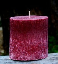 80hr BLACK RASPBERRY Triple Scented Natural OVAL Pillar Candle STRAWBERRY PEACH