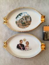 Limoges Monaco Prince Rainier Princess Grace Ash Trays #5327