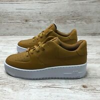 W NIKE AIR FORCE 1 SAGE LOW LX WHEAT size UK 7.5 US 10 EUR 42 AR5409 002 AF1