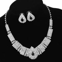 Juego Collar Matrimonio 3 Piezas Joyas Abundante Conjuntos Símil Diamantes Lujo*