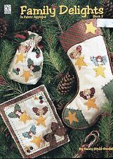 Family Delights In Fabric Applique Christmas Book 2 by Nancy Gould-Goodale