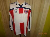 FC Bayern München Adidas Langarm Spieler Version Trikot 2000-2002 Gr.S- M Neu