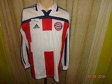 Bayern Monaco Adidas Manica Lunga Giocatore Maglia versione 2000-2002 TG. S-M Nuovo