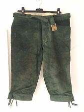 Real Leather Shorts: Green Bavarian 4 Octoberfest or hunting with beautiful belt