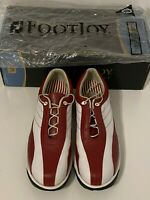 Footjoy Women's Golf Shoes Contour Series Red and White Leather Size 8