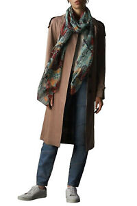 Burberry London Unisex Multi-Color 100% Silk Scarf Shawl