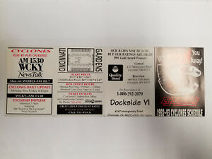Cincinnati Cyclones 1992/93 ECHL Minor Hockey Pocket Schedule - Quality Hotel (R