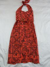 Revival by Dangerfield 6 XXS NWT RRP $98 Orange Cold Crab Dip Dress