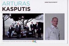 CYCLISME carte directeur sportif ARTURAS KASPUTIS équipe AG2R prévoyance 2011