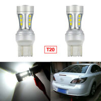 2Pcs Error Free T20 LED Reverse Parking Projector Bulbs For Mazda Raptor 12